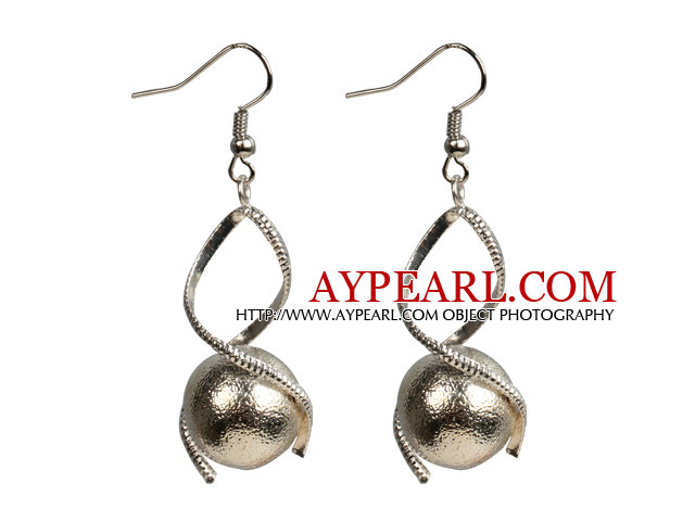 Simple Style White Color Shell Beads Earrings