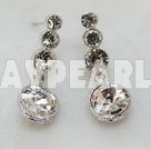pendants d'oreilles artificielles strass style