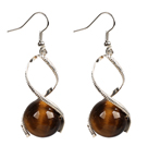 Wholesale Simple Style Dark Coffee Color Shell Beads Earrings