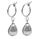 drop sea shell pear shape earrings