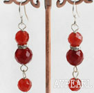 Wholesale red agate earrings