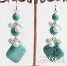 Wholesale turquoise white porcelain stone earring