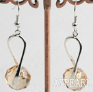 Wholesale Lovely Smoky Color Manmade Crystal Charm Dangle Earrings With Fish Hook