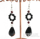 Wholesale black agate earring