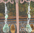 Wholesale dyed green pearl crystal earrings