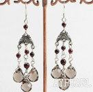 Wholesale crystal garnet earring