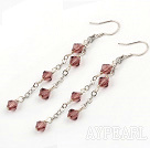 Wholesale man-made crystal earring