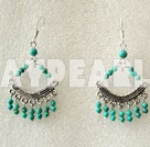 Turquoise  earring boucle d'oreille turquoise