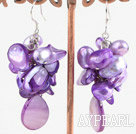 Wholesale dyed pearl shell earring