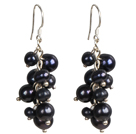 Wonderful Short Style Round Garnet And Tibet Silver Fish Dangle Earrings
