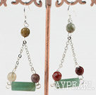 aventurine indian agate earring