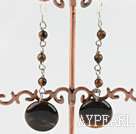 Cute Beaded Tiger Eye Dangle Earrings