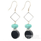 Wholesale turquoise and black agate earrings