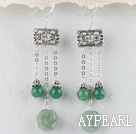 Simple Style Green Aventurine Dangling Earrings
