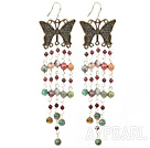Wholesale indian agate garnet earring