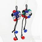 Wholesale colorful crystal earrings