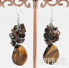 Wholesale tiger eye earrings