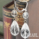 Lovely White Teardrop Crytal Dangle Earring With Lever Back Hook