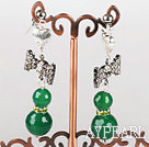 Wholesale lovely butterfly ties and faceted green agate earrings