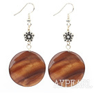 dyed gold shell earrings
