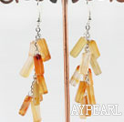 Wholesale firecracker shape agate earrings