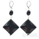 Wholesale black agate earrings