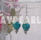 burst pattern turquoise earrings