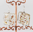 Lovely Short Style Multi Color Glaze Dangle Earrings With Fish Hook
