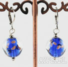 colorful 12 mm colored glaze ball earrings