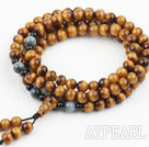 AA Grade Natural Tiger Eye Prayer Bracelet ( Rosary Bracelet Total 108 beads, also can be necklace )