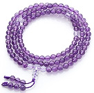 Wholesale Natural Amethyst and Clear Crystal Prayer Bracelet (  Rosary Bracelet can also be necklace )