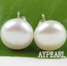 sellable 11.5-12mm real white  pearl studs