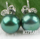 8-8.5 mm dyed green pearl studs