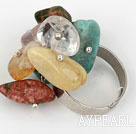 Wholesale Classic Design Assorted Mutli Stone Adjustable Ring