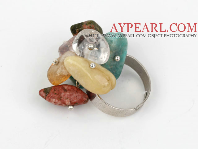 Classic Design Assorted Mutli Stone Adjustable Ring