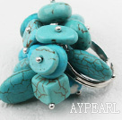 Wholesale Classic Design Assorted Turquoise Adjustable Ring