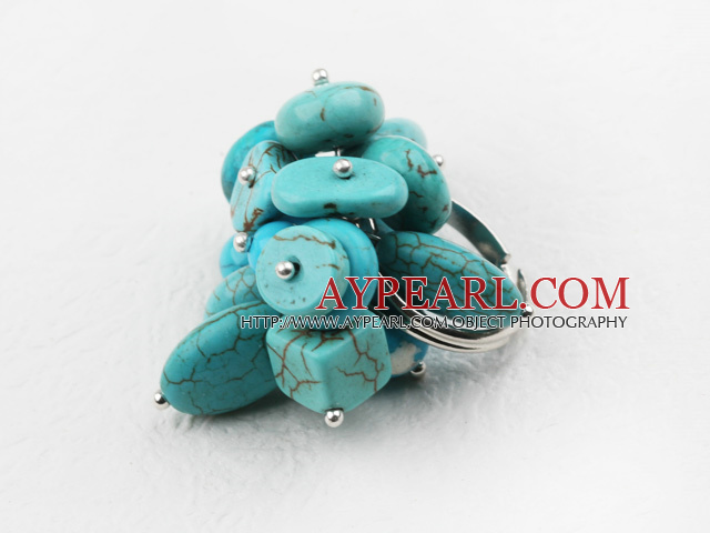 Classic Design Assorted Turquoise Adjustable Ring