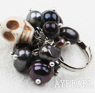 Klassisk design Assorted Black Pearl och Turkos Skull justerbar ring
