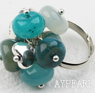 Wholesale Classic Design Assorted Blue Jade Adjustable Ring