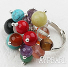 Klassisk design Assorted Multi Stone och Crystal justerbar ring