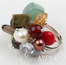 Wholesale Classic Design Assorted Multi Stone Adjustable Ring
