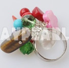 Wholesale colorful stone crystal and shell ring