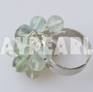 Wholesale rainbow flourite ring
