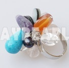 Wholesale multi color stone and crystal ring