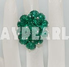 fashion gree crystal ring