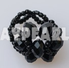 Wholesale black crystal ring