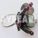 Wholesale garnet amethyst black lip shell ring