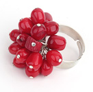 Wholesale 7-8 red coral ring (adjustable)