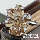 Wholesale Fashion Crystal Flower Adjustable Ring