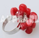 Wholesale red coral ring